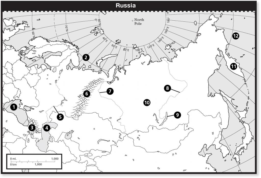 Europe And Russia Physical Map New United States Physical Features inside United States Physical Map Worksheet