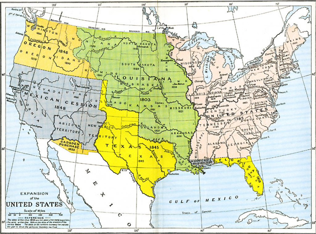 Expansion Of The United States, 1783–1853 pertaining to Growth Of The United States To 1853 Map