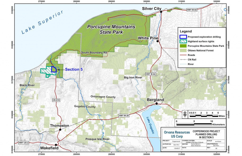 Exploratory Drilling Allowed In Porcupine Mountains Wilderness State regarding Map Of Porcupine Mountains State Park