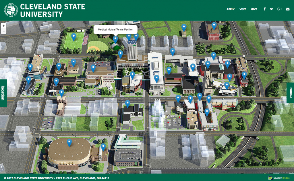 Explore #clevelandstateuniversity With This Campus Map! | Cleveland regarding Cleveland State Map