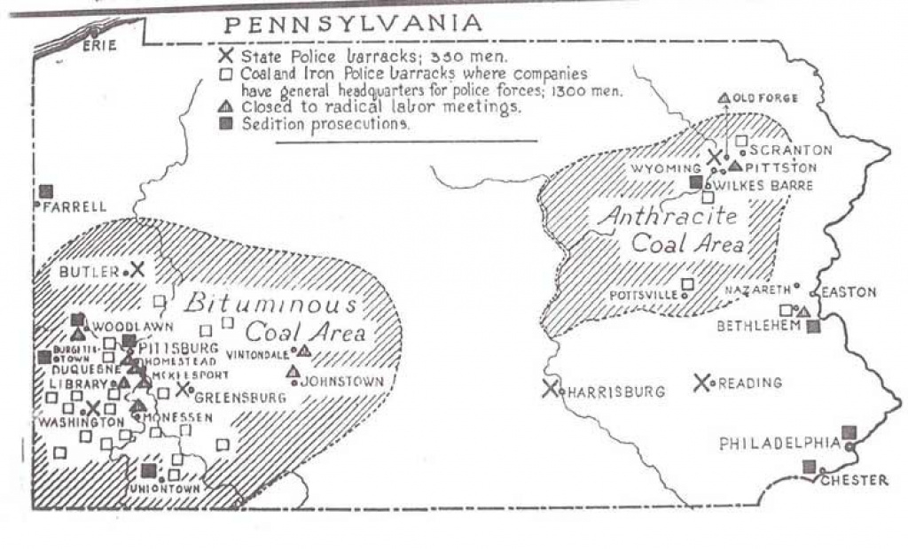 Explorepahistory - Image in Pa State Police Barracks Map