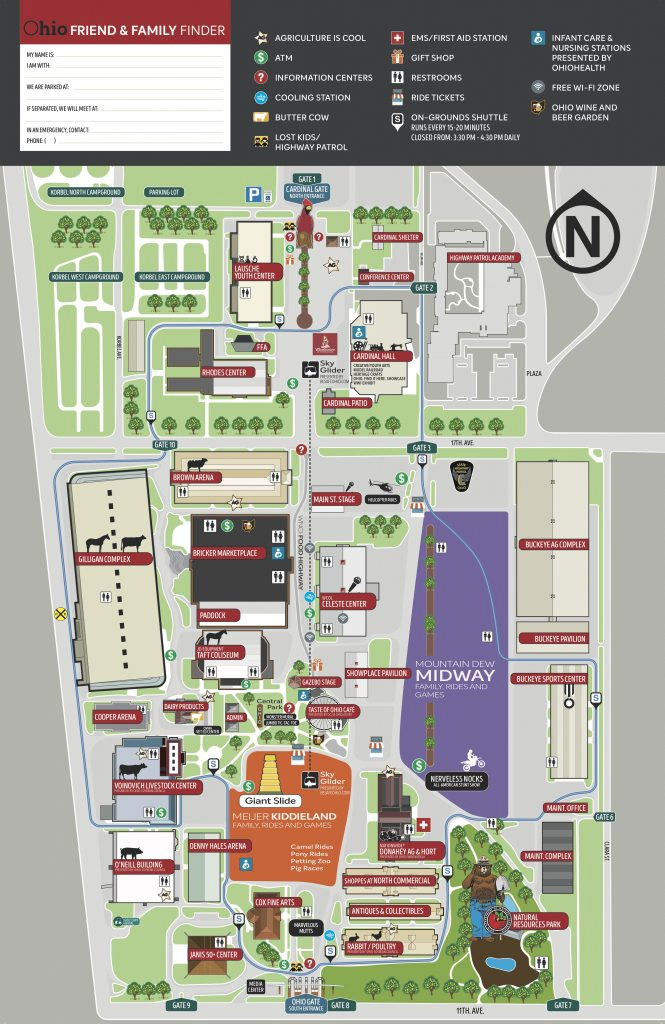 Fair Maps - Ohio State Fair throughout State Fairgrounds Map