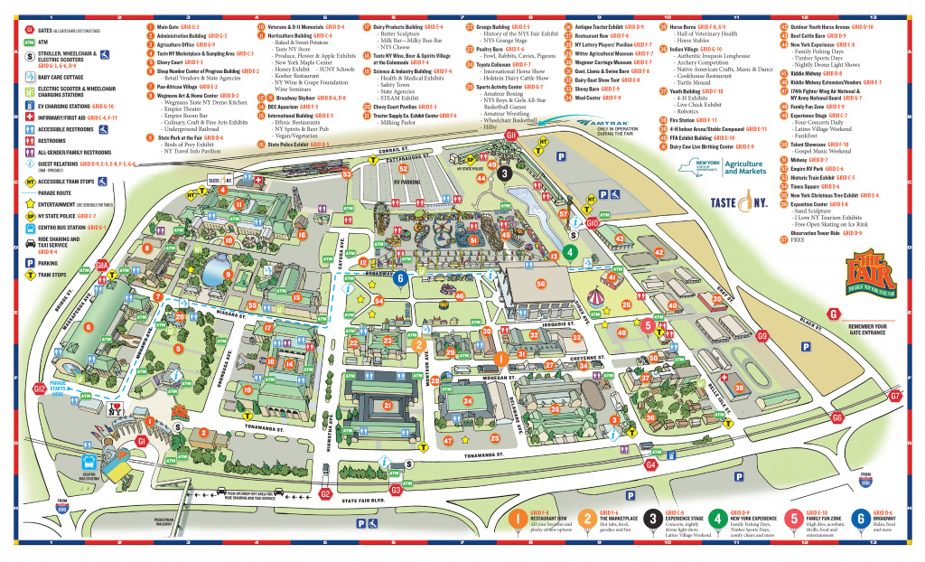 Fairground Maps - The Great New York State Fair! regarding State Fairgrounds Map