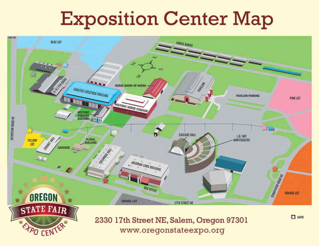 Fairgrounds Map – Oregon State Fair And Expo Center in State Fairgrounds Map