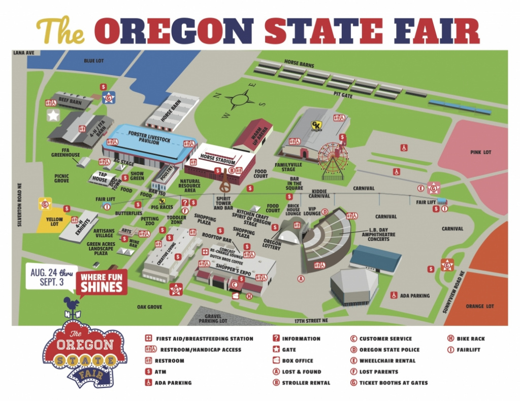 Fairgrounds Map - Oregon State Fair for State Fairgrounds Map