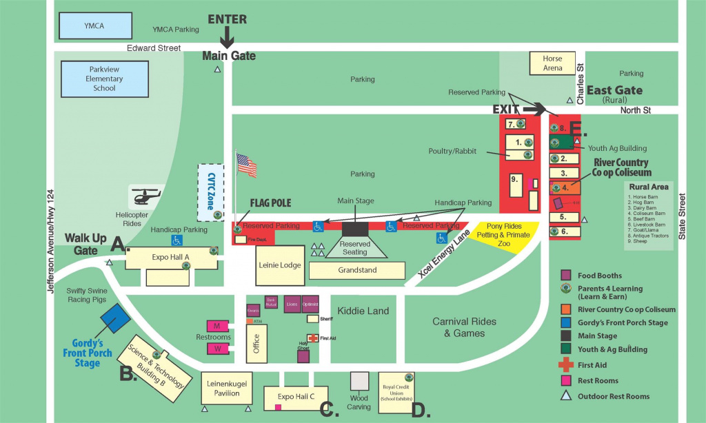 Fairgrounds Map pertaining to Wisconsin State Fair Grounds Map