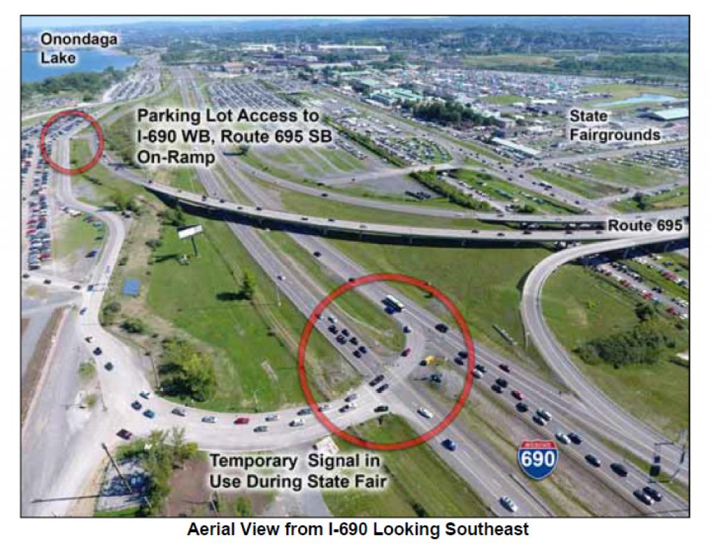 Federal Highway Administration Approves I-690 On-Ramp For Nys Fair pertaining to New York State Fairgrounds Map