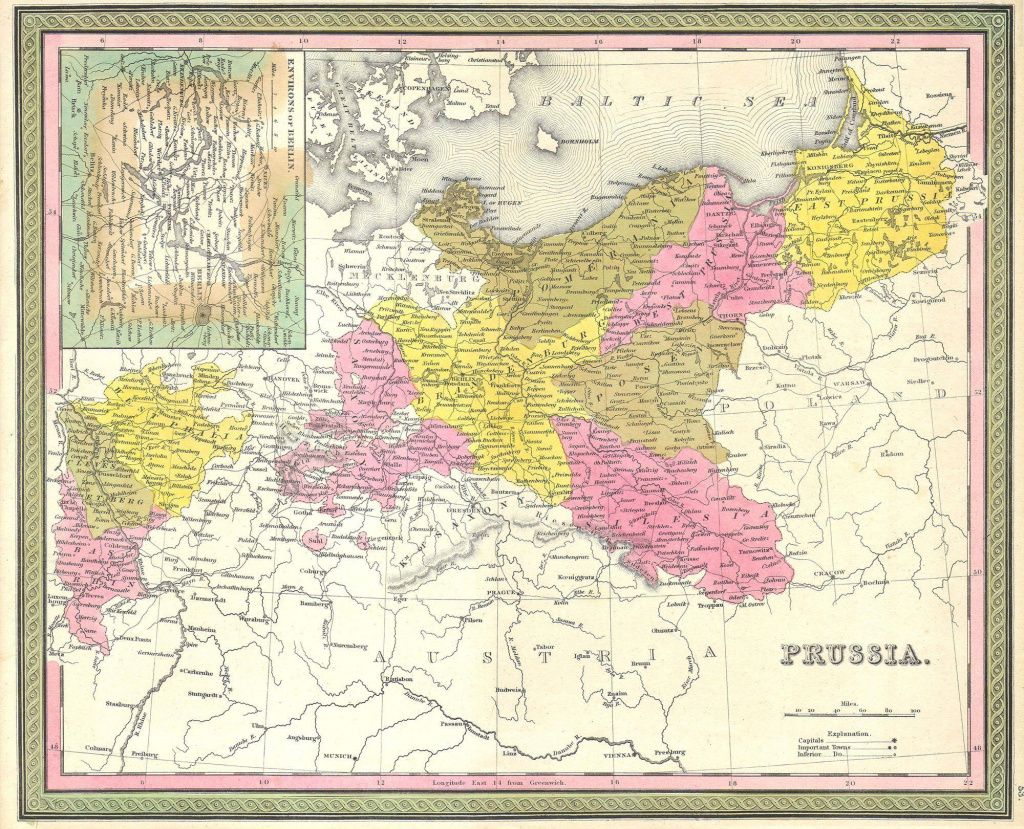 File:1850 Mitchell Map Of Prussia Germany - Geographicus - Prussia-M pertaining to German States Map 1850