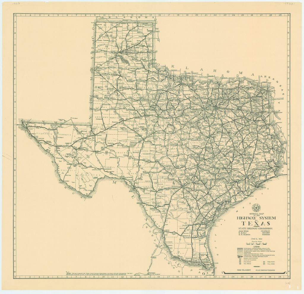File:1933 Texas State Highway Map - Wikimedia Commons inside Texas State Highway Map