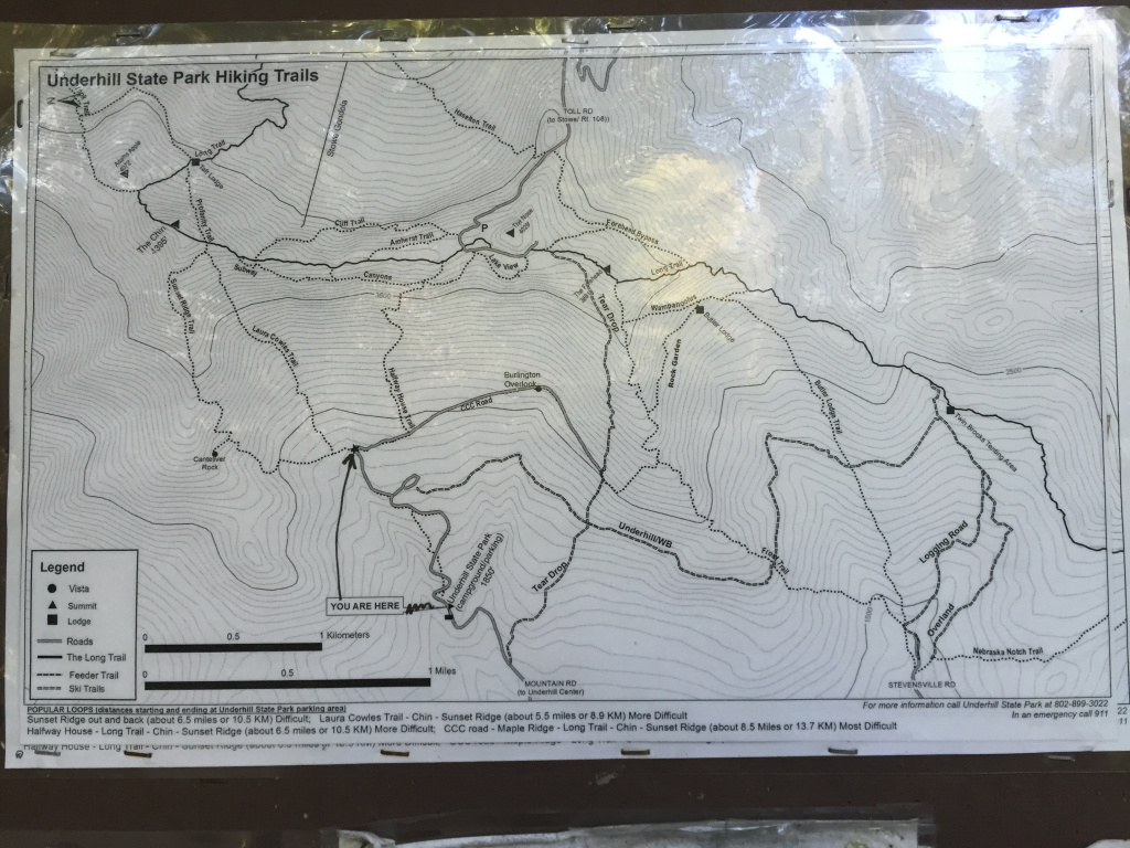 File:2017-09-11 09 28 12 Trail Map At The Junction Of The Ccc Road intended for Underhill State Park Trail Map