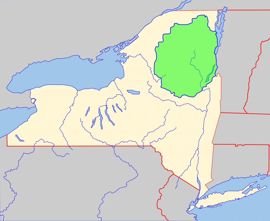 File:adirondack Park Map With Blue Line.svg   Wikimedia Commons Within New York State Parks Map
