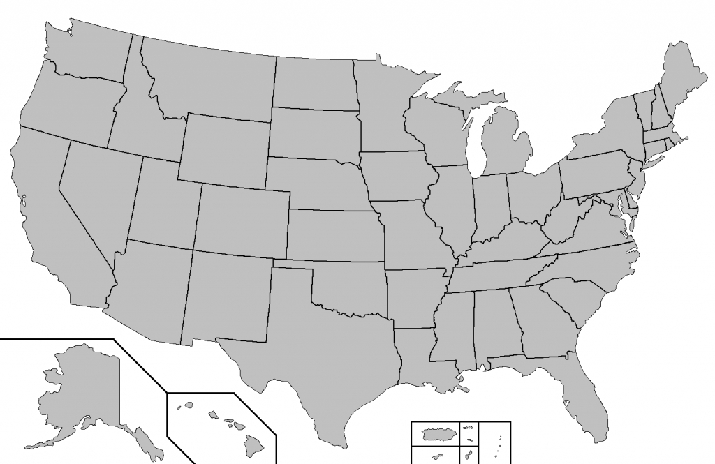 File:blank Map Of The United States - Wikimedia Commons for Blank State Map