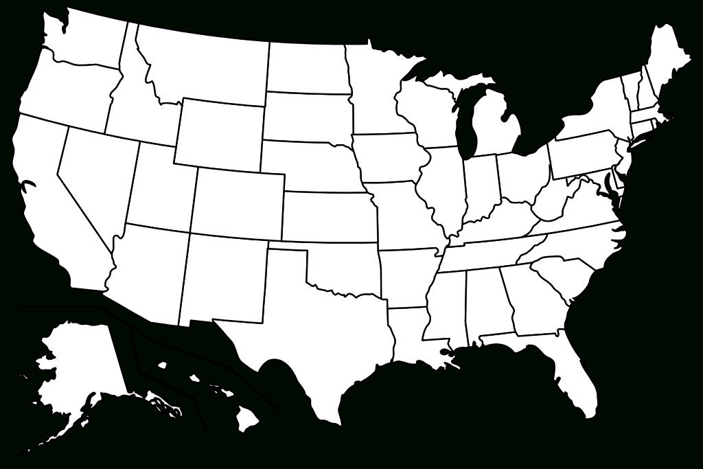 File:blank Us Map Borders.svg - Wikimedia Commons with regard to Us Map With State Lines