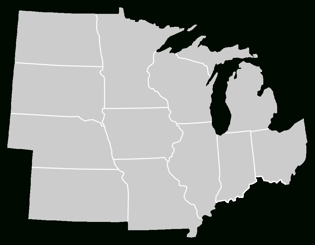 File:blankmap-Usa-Midwest.svg - Wikimedia Commons pertaining to Blank Map Of Midwest States