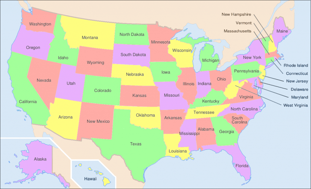 File:map Of Usa Showing State Names - Wikimedia Commons throughout Show Me A Picture Of The United States Map