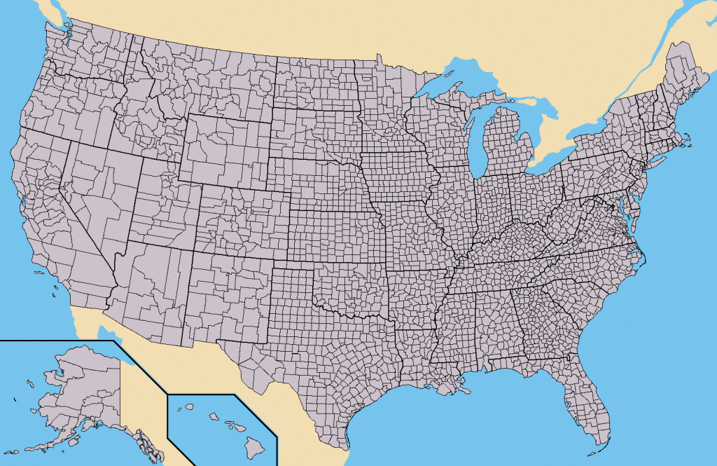 File:map Of Usa With County Outlines - Wikimedia Commons pertaining to United States County Map