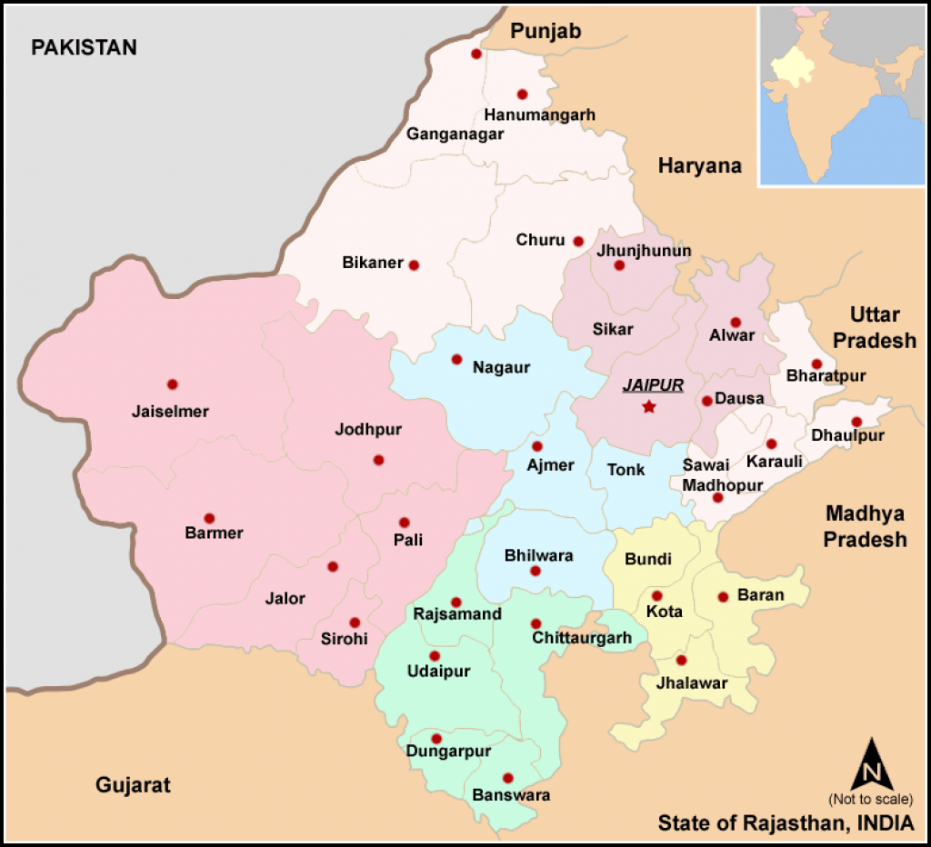 File:map Rajasthan Dist 7 Div - Wikimedia Commons with Political Map Of Rajasthan State
