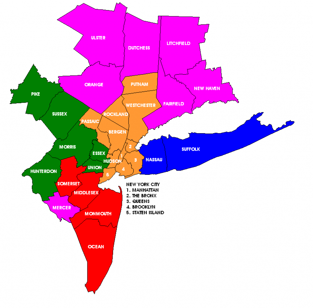 File:new York Metropolitan Area Counties Illustration throughout Tri State Area Map