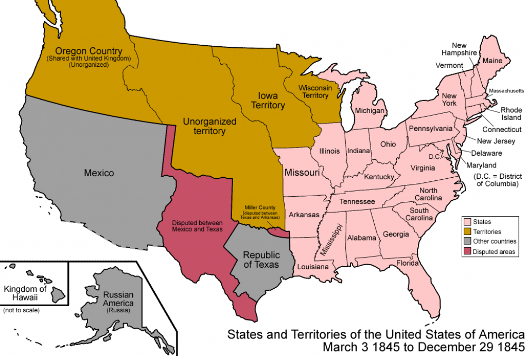 File:united States 1845-03-1845-12 - Wikimedia Commons within Map Of United States 1845