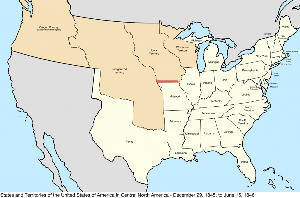 File:united States Central Map 1845-12-29 To 1846-06-15 - Wikipedia within Map Of United States 1845