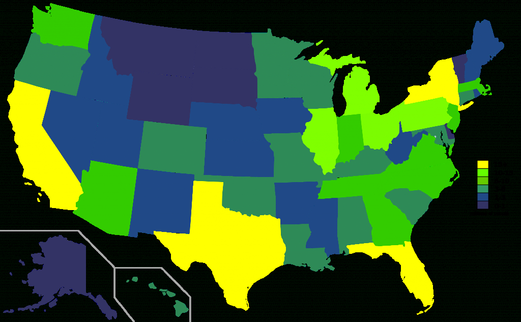 File:usa States Population Map 2007 Color.svg - Wikimedia Commons with regard to State Population Map