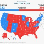 Final Electoral College Map   Business Insider Within States Trump Won Map
