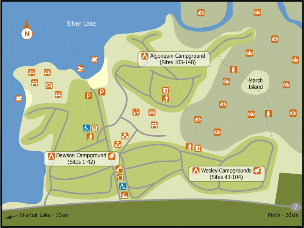 Find A Site - Silver Lake - Ontario Parks Reservation Service throughout Silver Lake State Park Campground Map