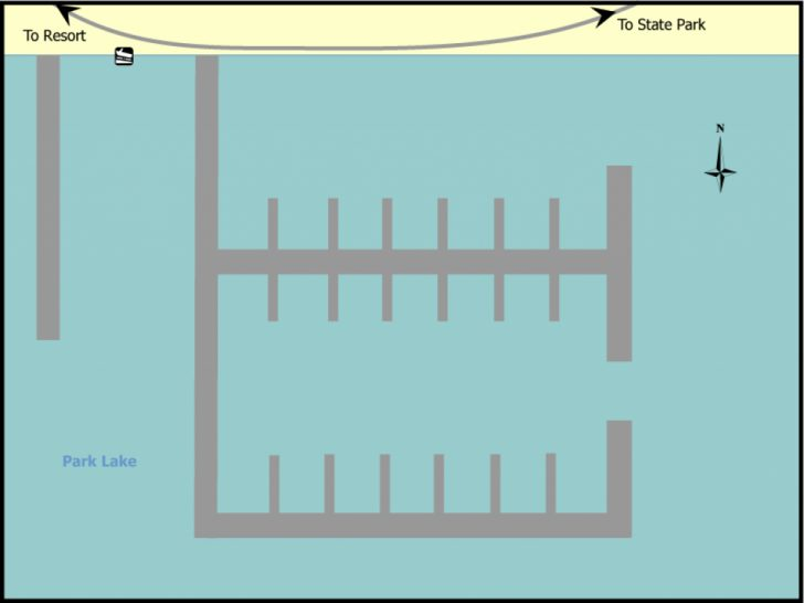 Sun Lakes State Park Site Map