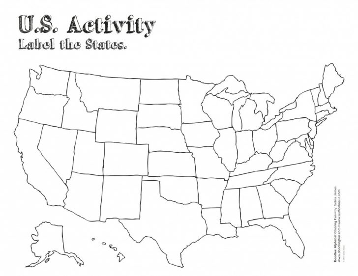 A Blank Map Of The United States