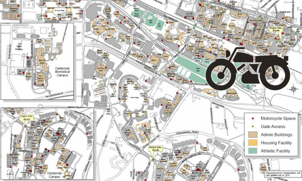 Find My Way Around Nc State Campus throughout Nc State Football Parking Map