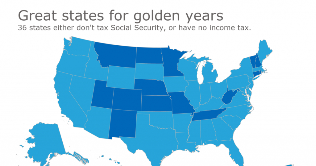 Finding A Tax-Friendly State For Retirement | Accounting Today throughout States With No Income Tax Map