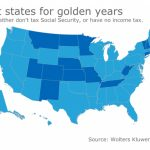 Finding A Tax Friendly State For Retirement   Accounting Today With Regard To Retirement Friendly States Map