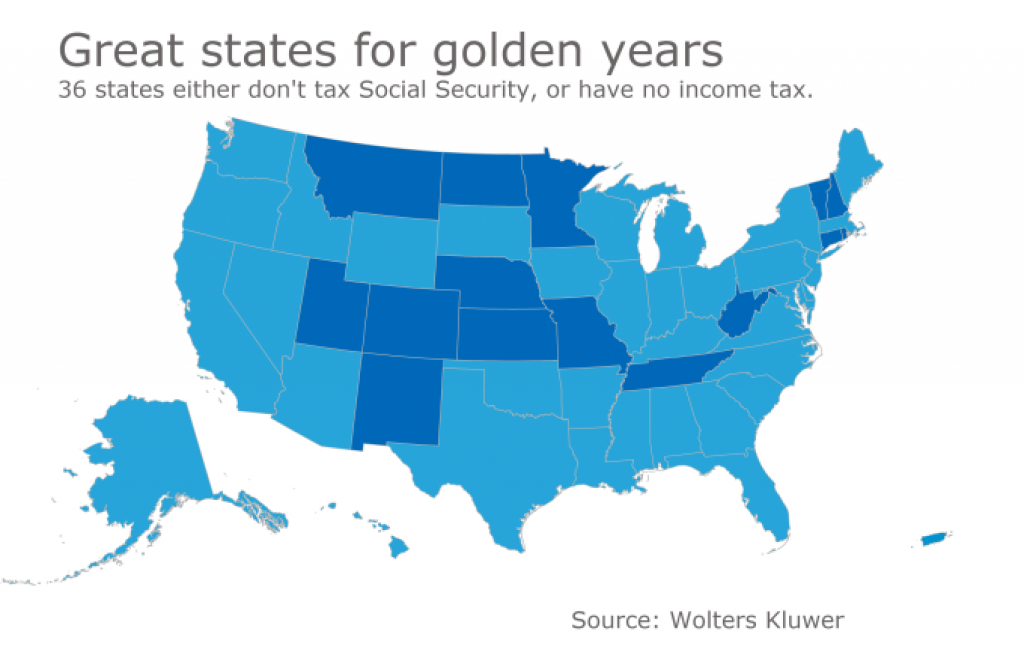 Finding A Tax-Friendly State For Retirement | Accounting Today with regard to Retirement Friendly States Map
