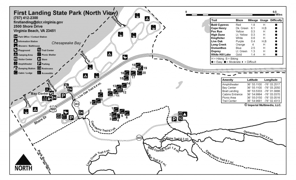 First Landing State Park - Find Your Chesapeake regarding First Landing State Park Trail Map