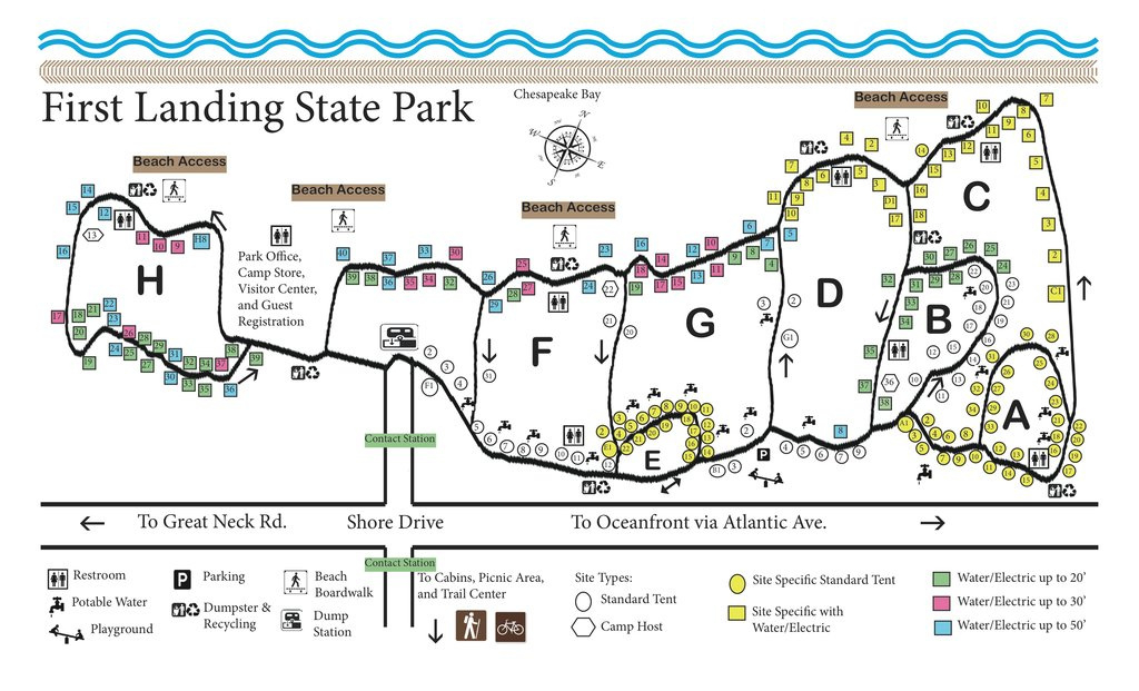 First Landing State Park - Maplets pertaining to First Landing State Park Trail Map