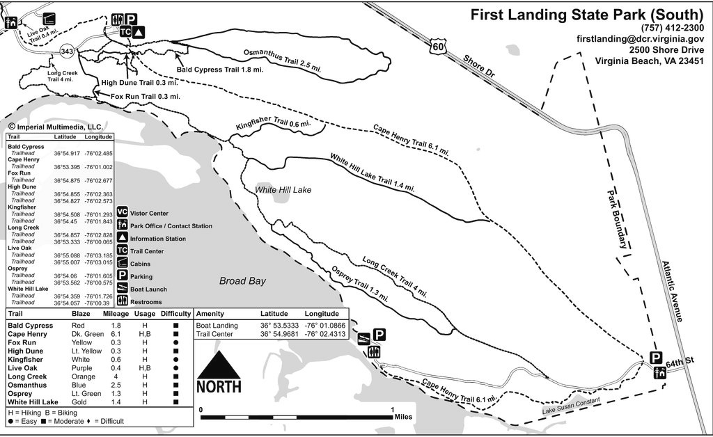 First Landing State Park - Maplets within First Landing State Park Trail Map