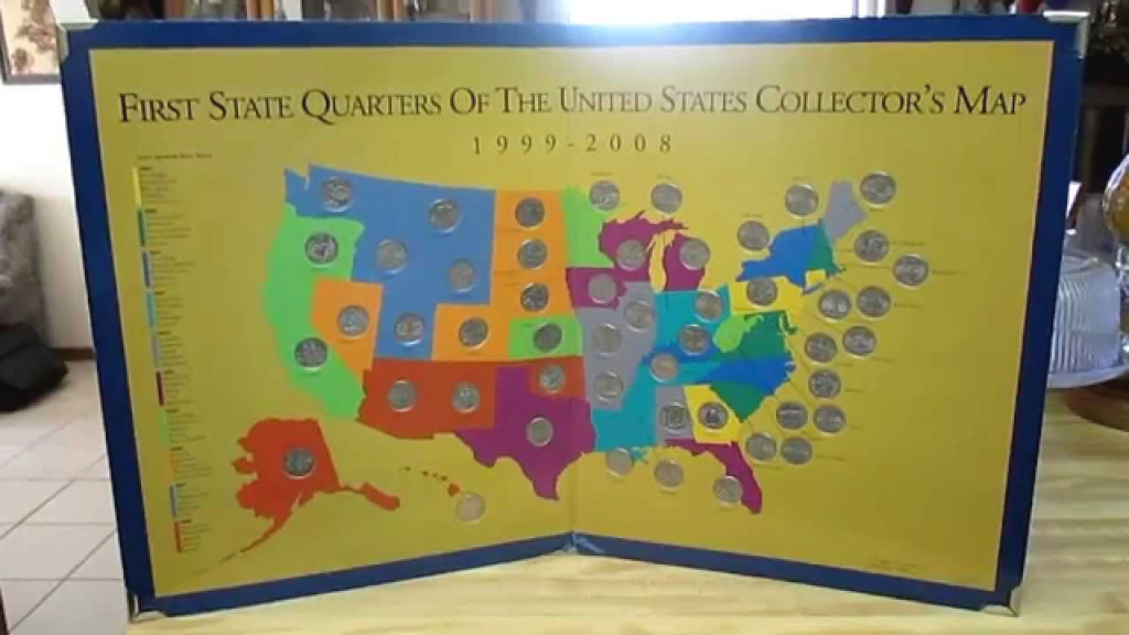 First State Quarters Collector's Map - Youtube within State Series Quarters Collector Map