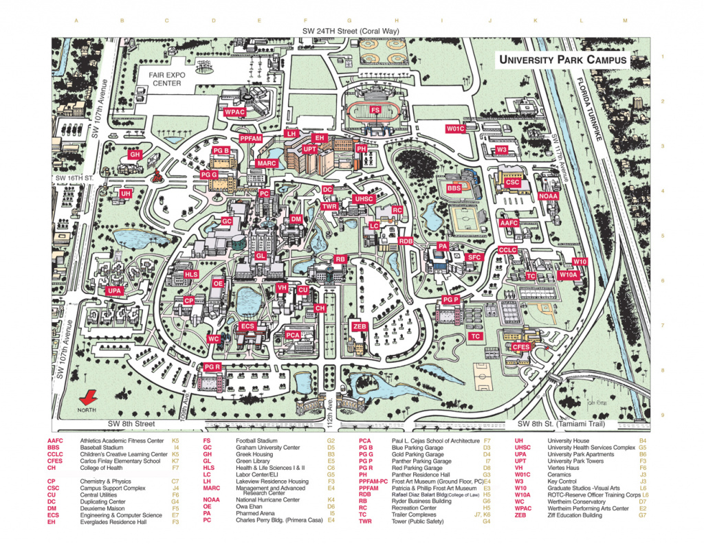 Florida International University Campus Map - Florida International within Florida State Colleges Map