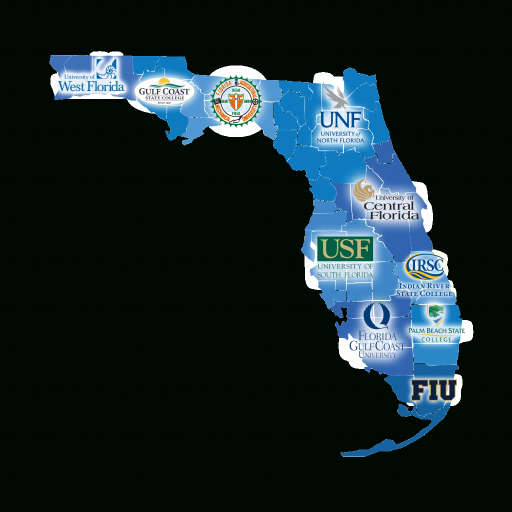 Florida Map Of Universities | Verkuilenschaaij regarding Florida State Colleges Map