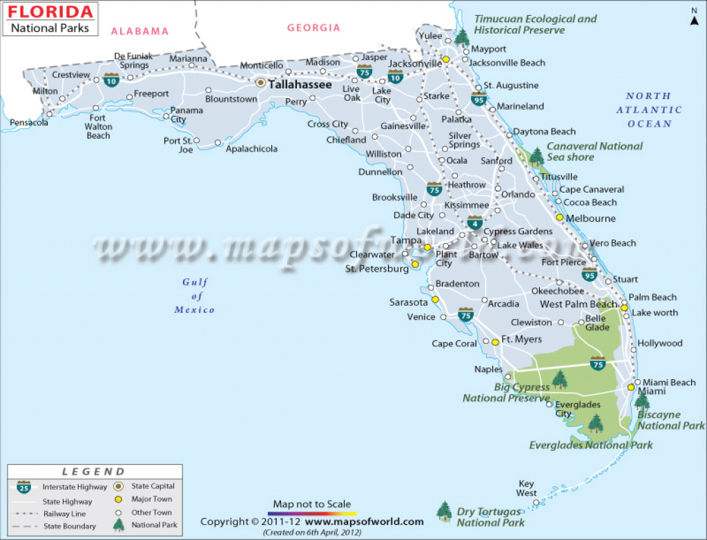 Florida National Parks Map, List Of National Parks In Florida intended for Florida State Parks Map