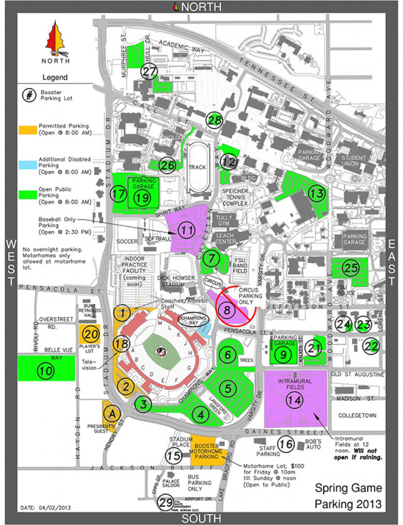 Florida State Football Spring Game Preview & Podcast - Tomahawk Nation with Florida State Parking Map