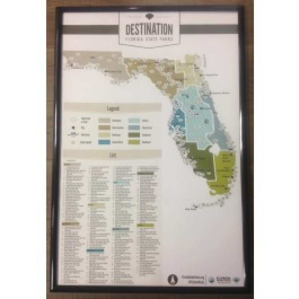 Florida State Parks Poster Map | Florida State Parks throughout Florida State Parks Map