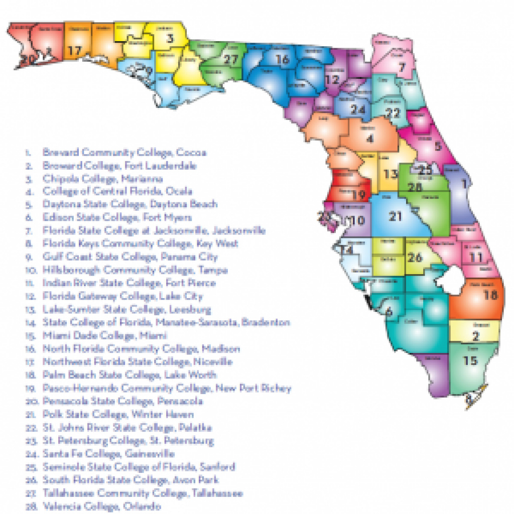 Florida University Florida Colleges Map — Downloadable World Map with Florida State Colleges Map
