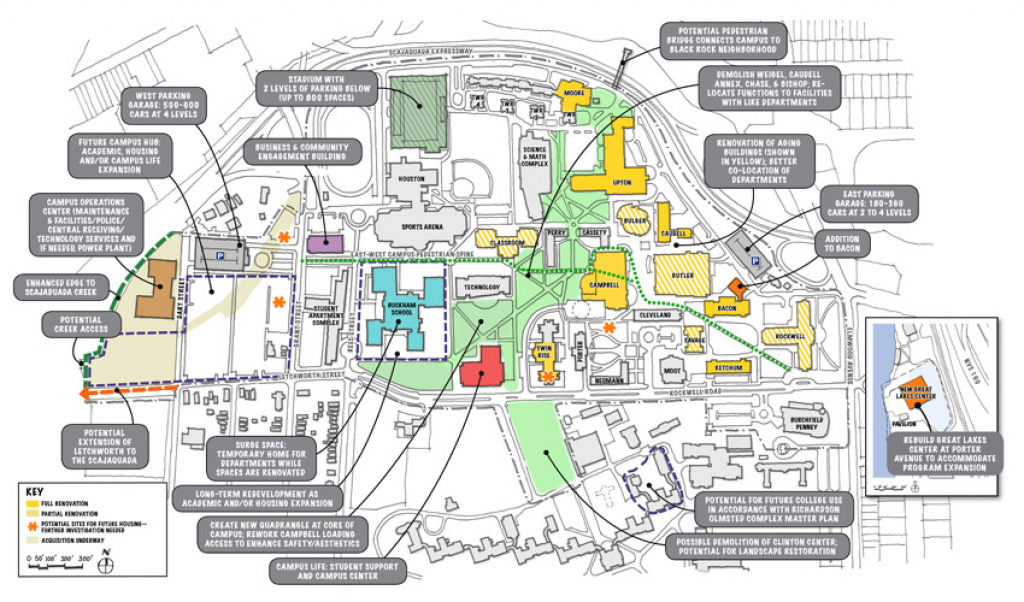 Flynn Battaglia Architects » Facilities Master Plan – Suny Buffalo State pertaining to Buffalo State College Parking Map