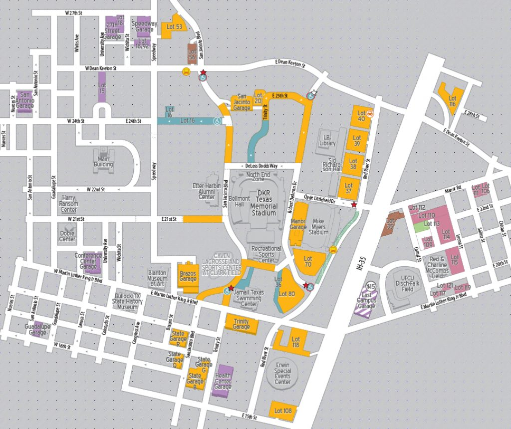 Football Parking 2018 | Parking & Transportation | The University Of With Regard To Wichita State Parking Map