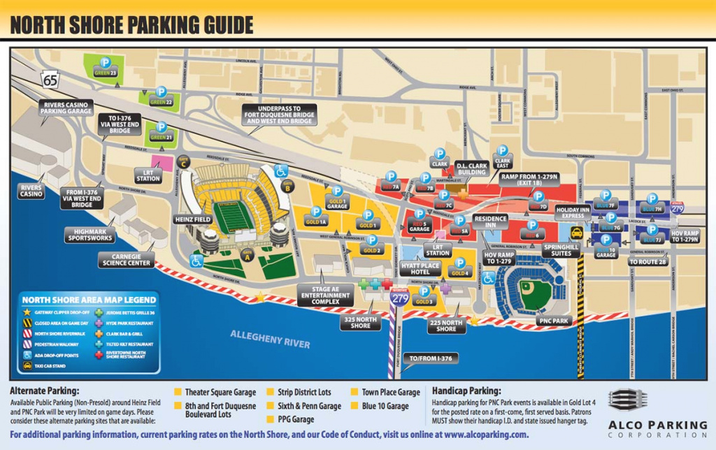 Football: Parking - University Of Pittsburgh within Penn State Football Parking Map 2017