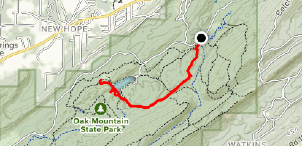 Foothills Trail - Alabama | Alltrails within Oak Mountain State Park Trail Map