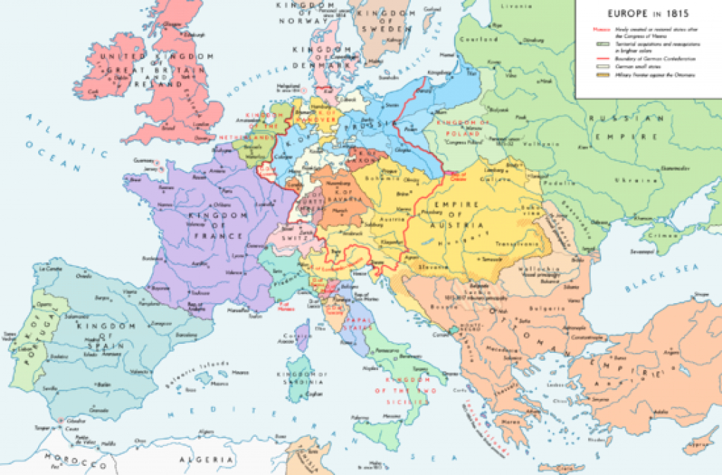 Former Countries In Europe After 1815 - Wikipedia for German States Map 1850