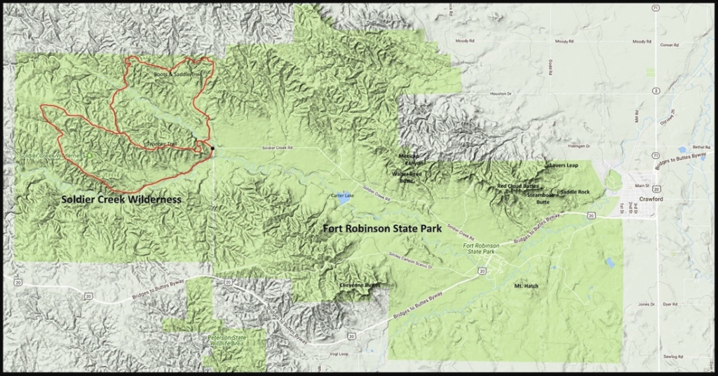 Fort Robinson - Panhandle Trails regarding Map Of Fort Robinson State Park