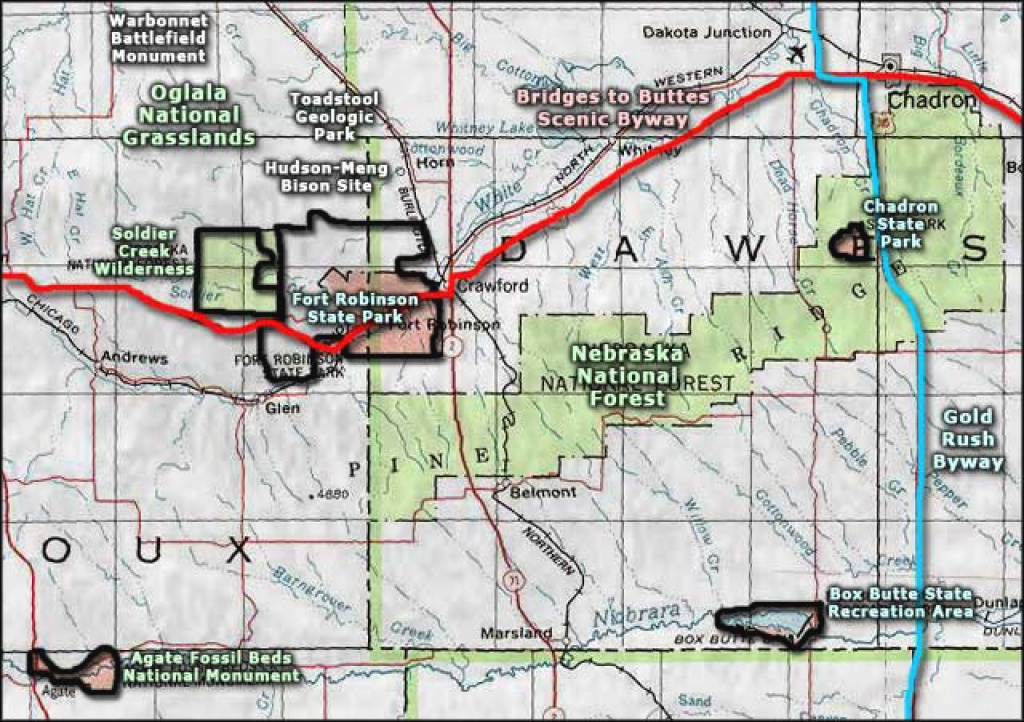 Fort Robinson State Park | The Sights And Sites Of America within Map Of Fort Robinson State Park